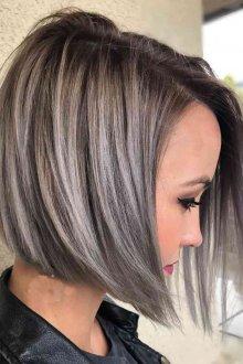 Мелирование 2019 серое на короткие волосы