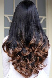 Мелирование 2019 сомбре на длинные волосы