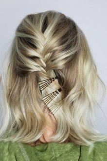 Мелирование 2019 на средние волосы