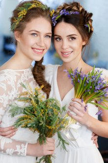 Мелирование 2019 для свадебной прически