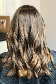 Мелирование 2019 на темно-русые волосы