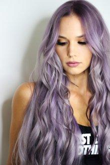 Окрашивание волос 2019 фиолетовое