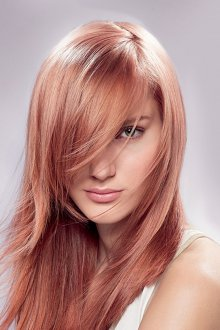Окрашивание волос 2019 клубничное
