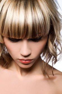 Мелирование волос с челкой 2019
