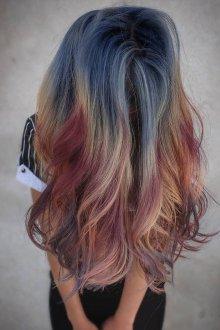 Color melting 2019 на длинные волосы