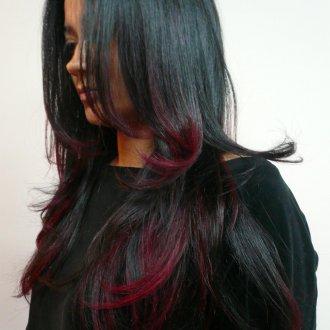 Color melting 2019 на темные волосы