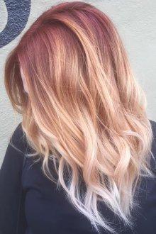 Омбре 2018 для блондинок
