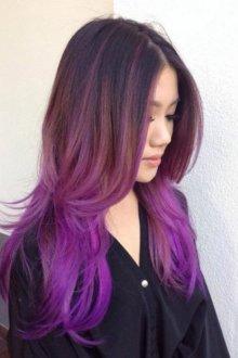 Омбре 2018 фиолетовое