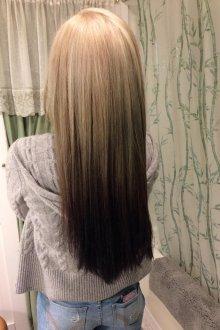 Омбре 2019 на прямые волосы
