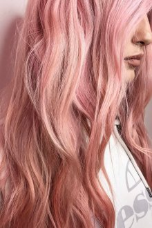 Окрашивание волос 2019 розовое золото