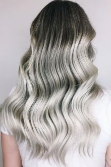 Окрашивание волос 2019 серое