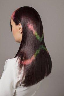 Трафаретное окрашивание длинных волос 2018