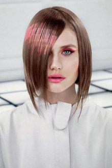 Трафаретное окрашивание коротких волос 2018