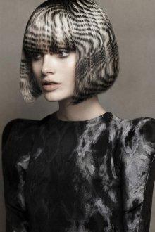 Трафаретное окрашивание волос 2018