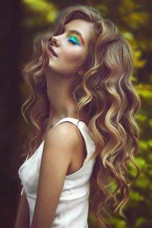 Окрашивание волос 2018 вьющихся