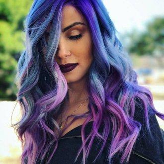 Окрашивание волос 2018 яркое