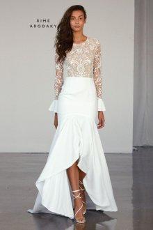 Свадебное платье 2019 асимметричное