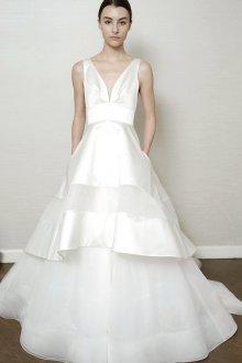 Свадебное платье 2020 с атласными полосками