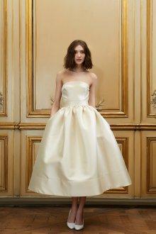 Свадебное платье 2020 атласное цвета слоновой кости