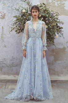Свадебное платье 2020 голубое