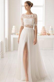 Свадебное платье 2020 с кружевным лифом