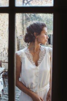 Свадебное платье 2020 с кружевом на плечах