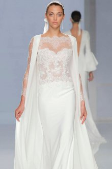 Свадебное платье 2020 с кружевными рукавами