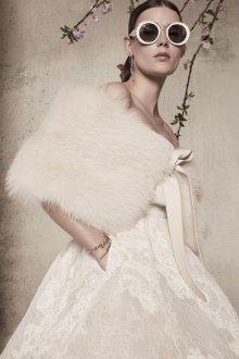 Свадебное платье 2020 с меховым болеро