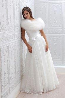 Свадебное платье 2019 с мехом
