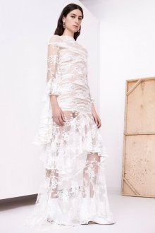 Свадебное платье 2020 прозрачное кружевное