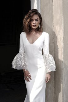 Свадебное платье 2020 с рукавами фонариками
