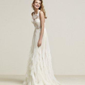 Свадебное платье 2020 с рюшами