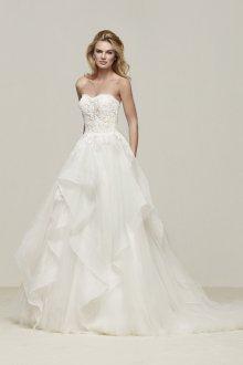 Свадебное платье 2020 с шифоновой юбкой