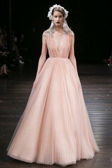 Свадебное платье 2020 светло-розовое
