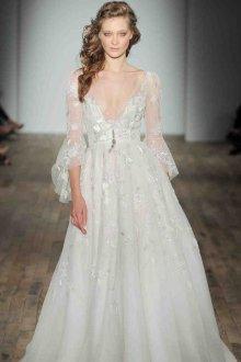 Свадебное платье 2019 с воланами