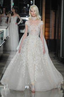 Свадебное платье 2019 с вышивкой на горле
