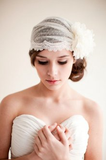 Свадебная прическа 2018 с декором из ткани