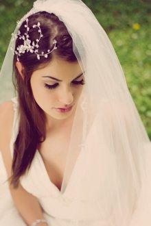 Свадебная прическа 2019 на длинные волосы с фатой