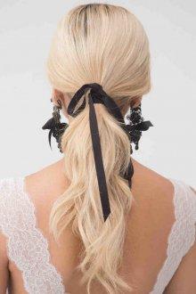 Свадебная прическа 2018 на длинные волосы хвост