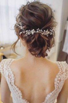 Свадебная прическа 2019 на длинные волосы в пучке