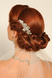 Свадебная прическа 2019 на длинные волосы рыжие
