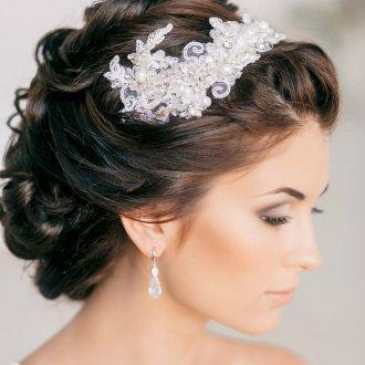 Свадебная прическа 2019 на длинные волосы забранные