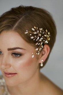 Свадебная прическа 2019 на короткие волосы с аксессуарами