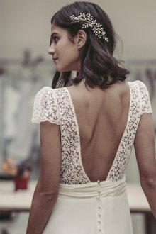 Свадебная прическа 2019 на средние волосы для брюнеток