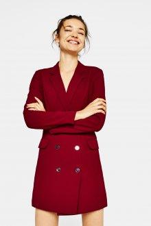 Платье пиджак бордовое