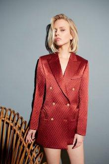 Платье пиджак с тиснением