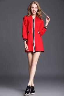 Платье пиджак красное