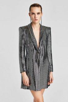 Платье пиджак металлик