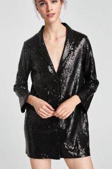 Платье пиджак из пайеток