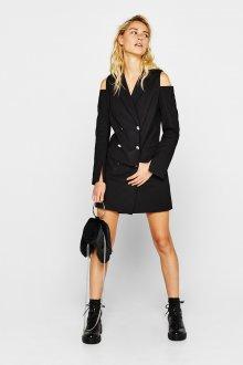 Платье пиджак с открытыми плечами
